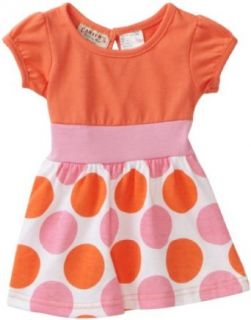 Carters Baby girls Infant Polka Dot Dress, Salmon, 18 Months Clothing