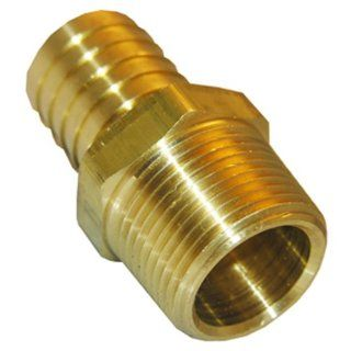 LASCO 17 7753 1/2 Inch Male Pipe Thread by 5/8 Inch Hose Barb Brass Adapter   Pipe Fittings