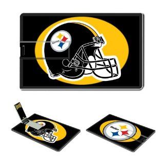 4GB USB Flash Drive USB 2.0 Memory Stick Sports NFL Pittsburgh Steelers Logo Credit Card Size Customized Support Services Ready National Football League Super Bowl team playoffs MVP champion player Peyton Manning Brett Favre (Black) Computers & Access