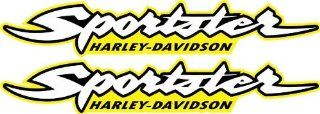 Yellow Harley Davidson Sportster 883 1200 Decals Stickers Bobber Graphics HD Gas Tank MOtorcycle
