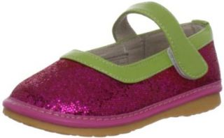 Hide & Squeak Hot Pink Diva Sparkle Mary Jane (Infant/Toddler) Shoes