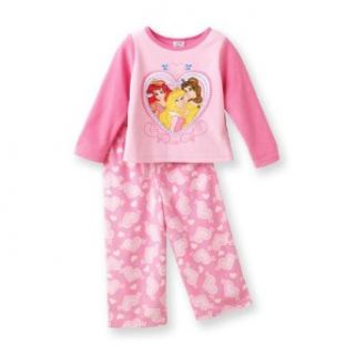 Disney Princess Toddler Girls Pink 2 Piece Micro Fleece Pajama Set, Size 2T Infant And Toddler Pajama Sets Clothing