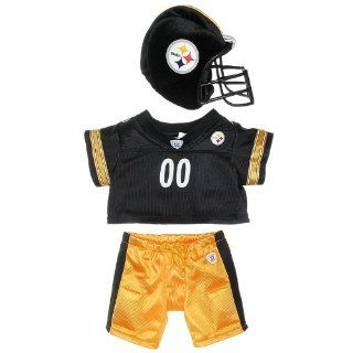 Build a Bear Workshop, Pittsburgh Steelers Uniform 3 pc. Teddy Bear Outfit Toys & Games