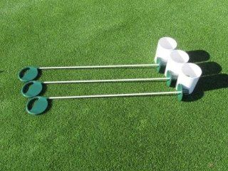 Deluxe Putting Green Accessory Kit   3 Plastic 6 Inch PGA Cups & 3 Pin Markers with EP Markers  Golf Pin Flags  Sports & Outdoors