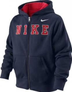 Nike Boys Embroidered Full Zip Hoody  Athletic Sweatshirts  Clothing