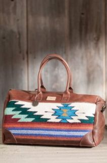 Oaxacan Hand Woven Wool and Leather Duffel Bag Clothing