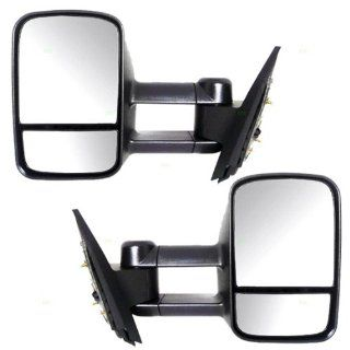 New Pair Set Telescopic Manual Mirror Assembly Pickup Truck Automotive