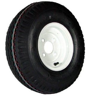 "4 hole 8"" x 3.75"" White Trailer Wheel & Tire (910 lb. capacity) Automotive"