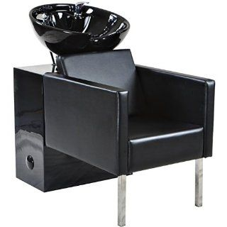 """Doris"" Black Beauty Salon Shampoo Chair & Sink Bowl Unit Beauty"