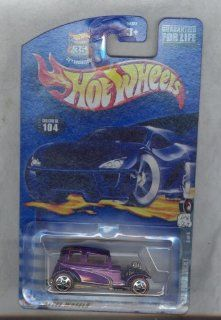 Hot Wheels 2002 104 Purple '32 Ford Vicky 35th Anniversary 164 Scale Toys & Games