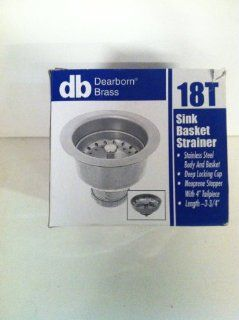 Dearborn Brass Stainless Steel Sink Basket Strainer 18T   Kitchen Sinks