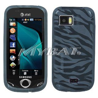 Samsung Mythic A897 Smoke Zebra Skin Candy Skin Cover Silicone/Gel/Soft/Cover/Case Cell Phones & Accessories