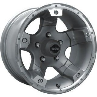 Black Rock Viper 15x8 Silver Wheel / Rim 6x5.5 with a  19mm Offset and a 108.00 Hub Bore. Partnumber 900S 586037 Automotive