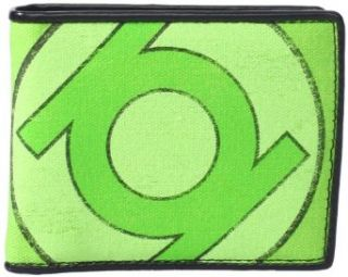 DC Comics Men's Green Lantern Logo Bi Fold Wallet, Green, One Size Clothing