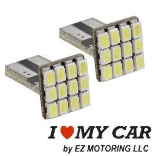 2pcs 12 SMD T15 12V LED Replacement Light Bulbs + STICKER 921 912 906   White Automotive