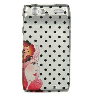 Motorola Droid RAZR / XT912 Protector Case Phone Cover   Polka Dots with Girl Cell Phones & Accessories