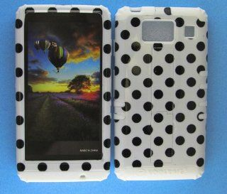 For Motorola Droid RAZR MAXX HD XT926 Hard White Skin+Black Dots Snap Case Cover Cell Phones & Accessories