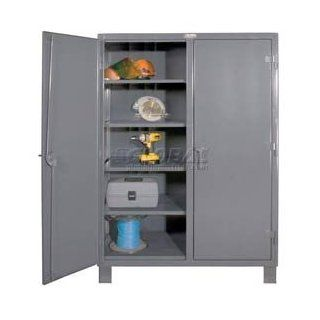 Heavy Duty 12 Gauge Double Shift Storage Cabinet 48x24x78