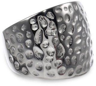 Women's Stainless Steel Hammered Ring Jewelry