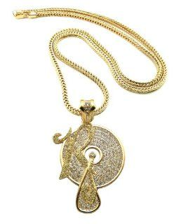 "New Iced Out ROCAFELLA Pendant 4mm/36"" Franco Chain Hip Hop Necklace XP931GY Jewelry"