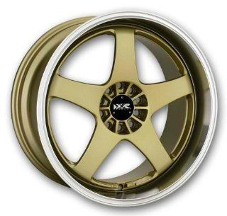 18x8.5 & 18x9.5 XXR 962 (Gold w/ Machined Lip) +35 4x100/4x4.5 Set of 4 Staggered Wheels Automotive