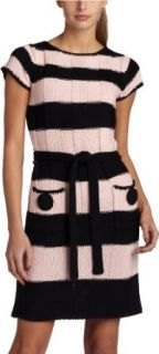 Jessica Simpson Women's Sweater Dress, Blk/Rbbn(Pink), X Small