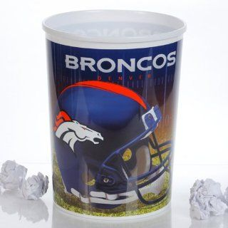 NFL Denver Broncos Plastic Football Wastebasket  Sports Fan Notepad Holders  Sports & Outdoors