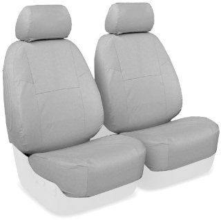 Coverking Custom Fit Front 50/50 Bucket Seat Cover for Select Porsche 944 Models   Polycotton Drill (Light Gray) Automotive