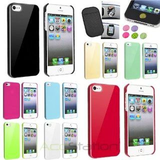 XMAS SALE Hot new 2014 model Color Design Plastic Hard Case+Anti Slip Mat+Sticker For iPhone 5 5S 5th Gen 5GCHOOSE COLOR Cell Phones & Accessories