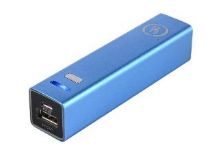 Yubi Power YP250ABLU 2500mAh Ultra Compact Lipstick Size Portable Power Bank Backup External Battery Charger   [Stylish and Tiny 3.70 x 0.86 x 0.86 inch Dimensions] (Blue) Cell Phones & Accessories