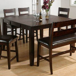 Jofran 972 62 Dark Rustic Prairie Butterfly Leaf Counter Height Table   Dining Tables