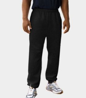 Fruit of the Loom Men's Fleece Pant   Black Heather   3XL Clothing