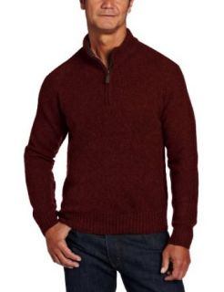 Pendleton Men's Shetland Zip Neck Sweater, Wine Mix, Medium at  Men�s Clothing store