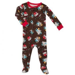 "Carter's Baby Boys One Piece Cotton Knit Footed Sleeper Pajamas Brown ""Animals at Work"" (18 Months) Infant And Toddler Sleepers Clothing"