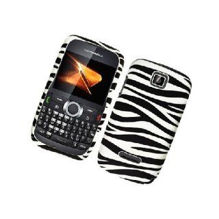 Motorola Theory WX430 Black White Zebra Stripe Cover Case Cell Phones & Accessories