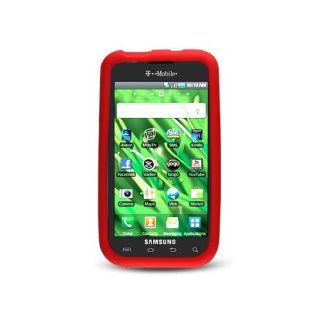 Red Soft Silicone Gel Skin Cover Case for Samsung Galaxy S Vibrant 4G SGH T959 SGH T959V Cell Phones & Accessories