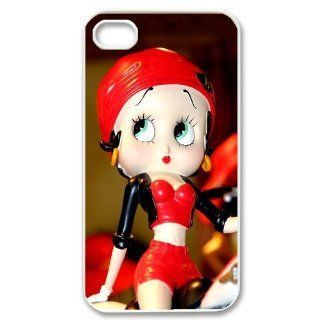 Custom Betty Boop Cover Case for iPhone 4 4s LS4 960 Cell Phones & Accessories