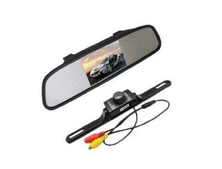 "Sunny988 4.3"" Color LCD rearview mirror roof Monitor +Black long Car parking rear camera  Vehicle Backup Cameras"