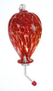 Master Craft Hand Blown Glass Hummingbird Feeder  Wild Bird Feeders  Patio, Lawn & Garden