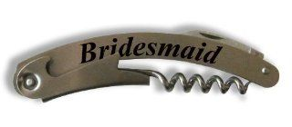 "Wine Bottle Opener Corkscrew (Set of 4)   BRIDESMAID WEDDING GIFT   Personalized for FREE (Click the ""Contact Seller"" link after purchase to leave us a message with your engraving request) Kitchen & Dining"