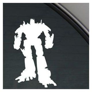 Transformers White Sticker Decal Optimus Prime White Car Window Wall Macbook Notebook Laptop Sticker Decal