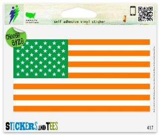 "Irish American Flag Car Sticker Indoor Outdoor 5"" x 3"" Automotive"