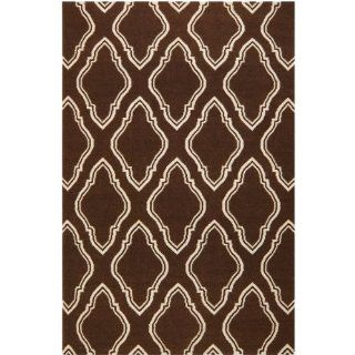 Surya Fallon FAL 1047 Jill Rosenwald Moroccan Inspired Flat Weave Hand Made Area Rug, 2 Feet by 3 Feet, Chocolate   Handmade Rugs
