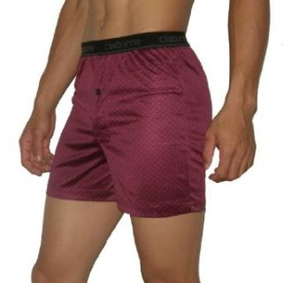 Mens Claiborne Soft & Comfortable Button Fly Boxer Shorts / Underwear   Wine Red (Size L(36 38)) at  Men�s Clothing store
