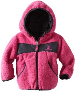 Rugged Bear Baby Girls Infant Reversible Denali Jacket, Fuchsia, 18 Months Infant And Toddler Fleece Outerwear Jackets Clothing