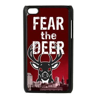 NBA Milwaukee Bucks Fear The Deer Team Logo Ipod Touch 4 Best Durable Plastic Case for Fans   Players & Accessories