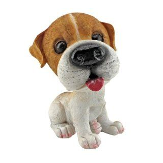 Prized Pup Jack Russell Terrier Puppy Dog Statue [Kitchen]  Collectible Figurines  Patio, Lawn & Garden