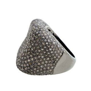 925 Sterling Silver 3.33 Ct Natural Diamond Pave Vintage Style Wedding Dome Ring Handmade Jewelry Size 7 Jewelry
