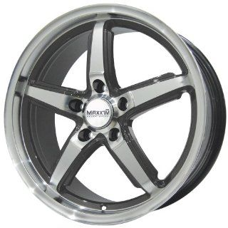 "Maxxim Allegro Graphite Wheel with Machined Face (17""x7.5""/5x110mm) Automotive"