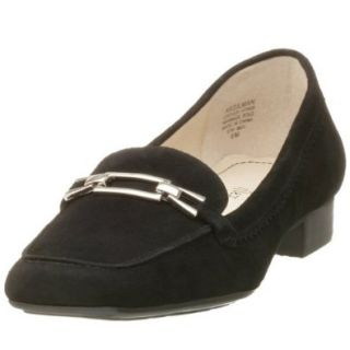 AK Anne Klein Women's Gilman, Black Suede, 5.5 M Shoes